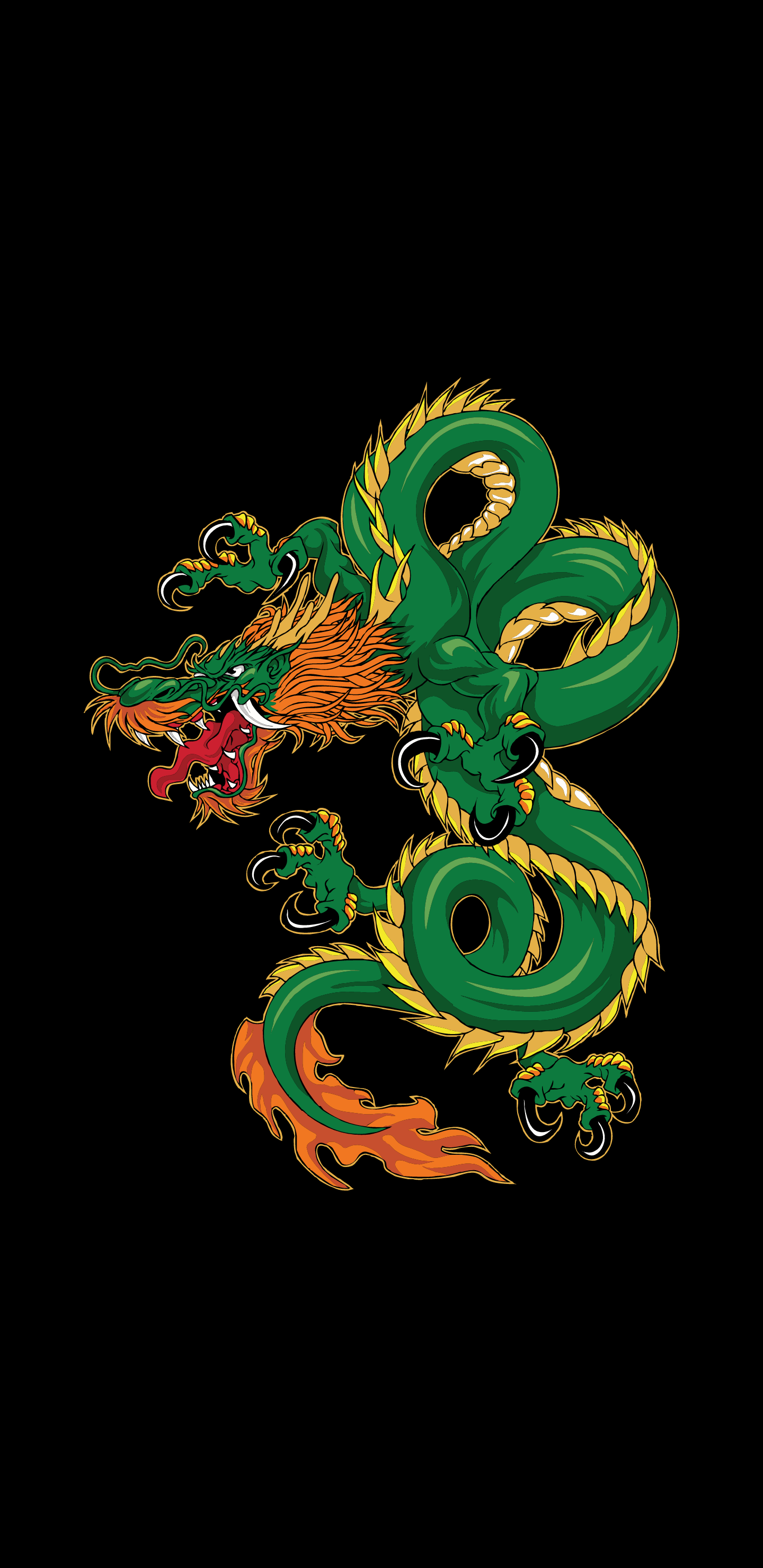 """Dragon [1440x2960] wallpaper generated by Colartive (an android wallpaper generator app). Another day, another elegant looking wallpaper. Try your own choice of colors on template """"Dragon"""". Drive link in the comments for more pallets applied on same template."""