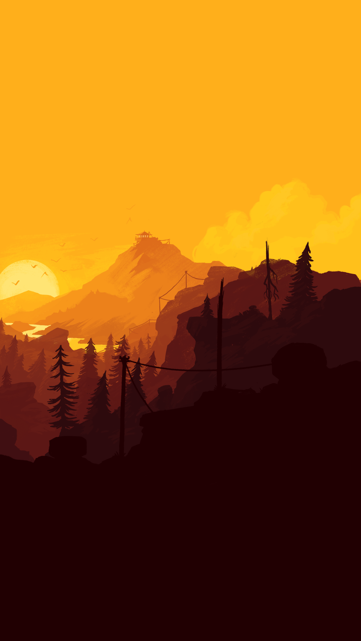 Sunset Minimalist Wallpaper