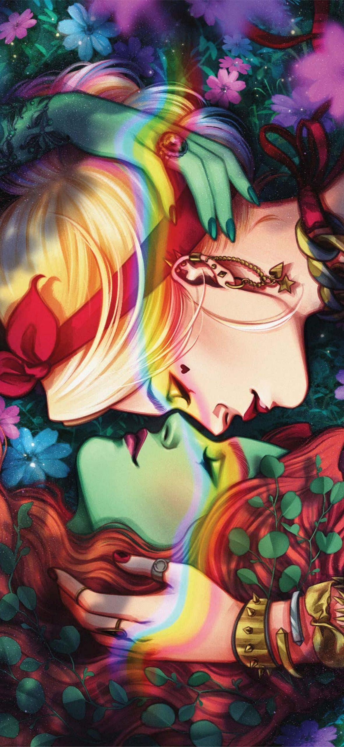 Harley Quinn & Poison Ivy wallpaper [1772x3840]